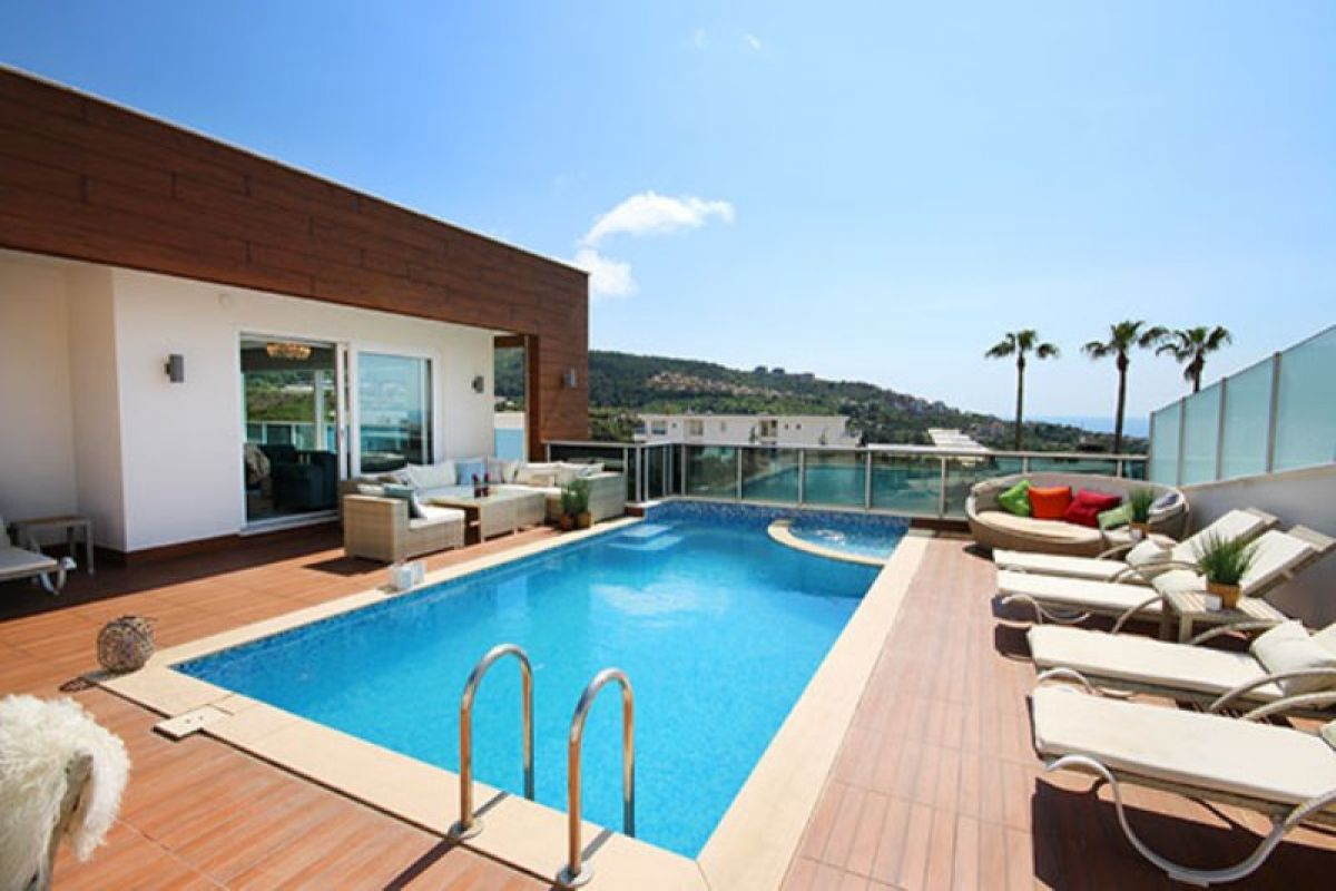 Luxusvilla mit Privatpool und Meerblick in Luxusanlage 625